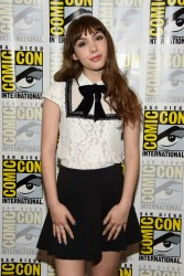"Hannah Marks attends the ""Dirk Gently"" press line during Comic-Con International 7/23/16"