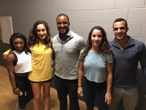 Aly Raisman, Simone Biles, Jordyn Wieber, and Danell Leyva With a Fan in Lubbock, Texas - 10/2/16