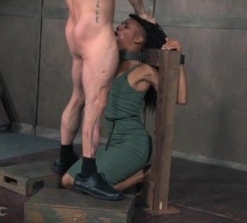Nikki Darling, Matt Williams, Sergeant Miles - Nikki Darling is throat overloaded as two big cocks face fuck her into subspace (2016) 720p
