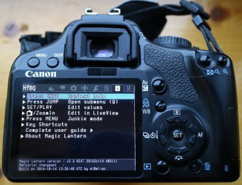Eos 450d video hack