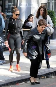 Jennifer Lopez - Wearing Black Leggings Shopping In New York City (10/15/16) Ass Shots!!