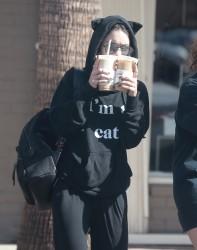 Vanessa & Stella Hudgens - Getting coffee in Beverly Hills 10/17/16