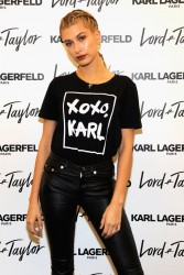 Hailey Baldwin - Karl Lagerfeld Paris x ELLE Event in NYC 10/18/16