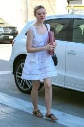 Elle Fanning - Going to a salon in Beverly Hills 10/20/16