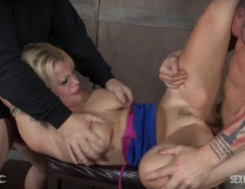 Nadia White, Matt Williams, Sergeant Miles - Nadia White is rope bound and completely used by huge dick, helpless, throat fucked and made to cum! (2016) 720p