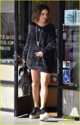 Vanessa Hudgens - Leaving a nail salon in Studio City 10/24/16