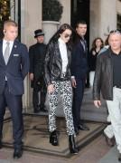 Bella Hadid - Leaving her hotel in Paris 10/27/16