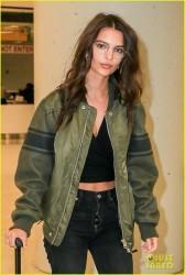 Emily Ratajkowski - At JFK Airport 10/28/16