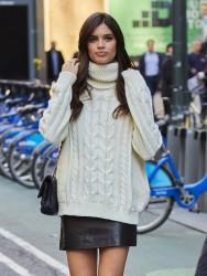 Sara Sampaio - Arriving at Victoria's Secret Headquarters in NYC 11/1/16