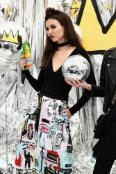 Victoria Justice - alice + olivia x Basquiat CFDA Capsule Collection Launch Party in NYC 11/2/16