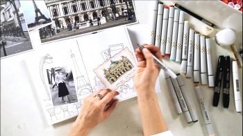 Скетчинг маркерами: рисование в радость! (2016) Видеокурс