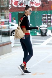 Bella Hadid - Leaving Gigi Hadid's apartment in NYC 11/12/16