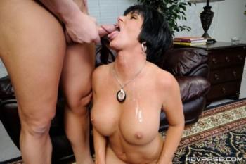 Shay Fox - Mature lady Shay blows and rides dick! (2014) 720p