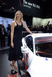 Maria Sharapova -           Porsche press conference Los Angeles Autoshow November 16th 2016.