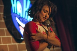 Milana Vayntrub Doing Stand-up Comedy at the Ha Ha Cafe Comedy Club in North Hollywood - 11/17/16