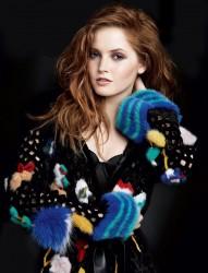 Ellie Bamber -              Vogue December (2016) Patrick Demarchelier Photoshoot.
