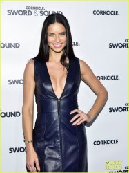 Adriana Lima - CORKCICLE Presents Sword & Sound event in NYC 12/7/16